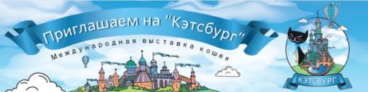 Международная мультисистемная выставка кошек Кэтсбург-2018 состоится 3–4 марта 2018 г. в Москве в МВЦ «Крокус Экспо» во 2-й павильоне в зале 11